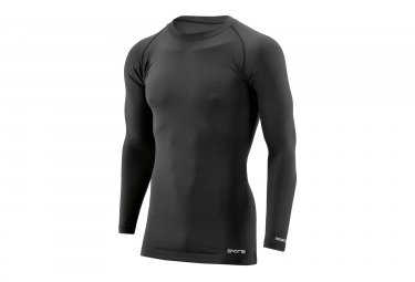Maillot manches longues skins dnamic base noir homme xl