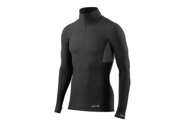 Skins Pull 1/4 zip DNAmic Thermal Black Men