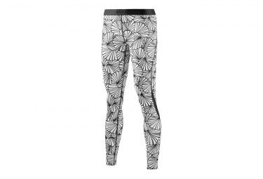 Collant Long Skins DNAmic Core Graphic Noir Blanc Femme