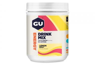 Boisson Énergétique GU Drink Mix Citron Fruits Rouges 840 g