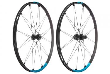 Paire de roues crankbrothers 2018 iodine 3 29 15mm 12x142mm noir bleu
