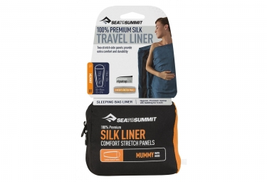 Sea To Summit Premium Silk Travel Liner Mummy Navy