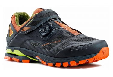 Chaussures vtt northwave spider plus 2 anthracite noir orange 46