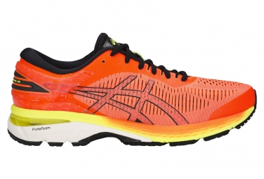 Asics gel kayano 25 orange jaune homme 43 1 2