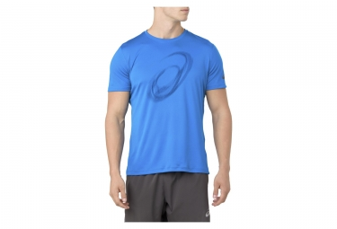 Asics Short Sleeve Jersey SILVER GRAPHIC Blue