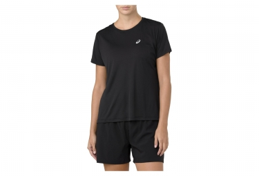 Asics Short Sleeve Jersey SILVER Black Women