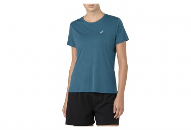 Asics Short Sleeve Jersey SILVER Blue Women