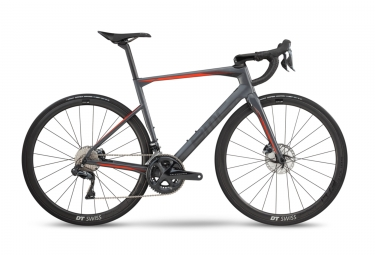 Velo de route bmc 2019 roadmachine 01 three disc shimano ultegra di2 11v gris rouge