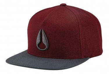 Casquette nixon simon snap back gris bordeaux