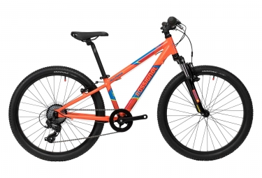 Vtt semi rigide enfant rossignol all track 24 m shimano tourney 8v orange 2018