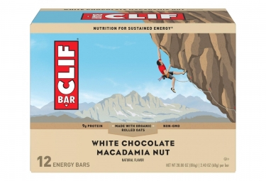 CLIF BAR Energy bars White Chocolate Macademia Nut x12