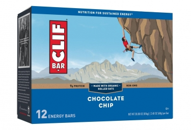 CLIF BAR Energy bar Chocolate Chip x12