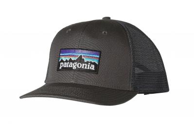 Casquette Patagonia P-6 Logo Trucker Gris