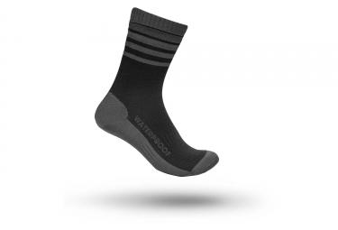 Chaussettes Hiver GripGrab Waterproof Merino Thermal Noir Gris