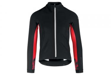 Veste thermique assos mille gt jacket winter noir rouge l