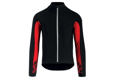Veste thermique assos mille gt jacket ultraz winter noir rouge l