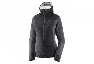 Salomon Right Nice Hybrid Hoodie Jacket Mujer Negro