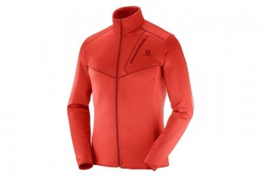 Salomon Discovery Fiery Jacket Red