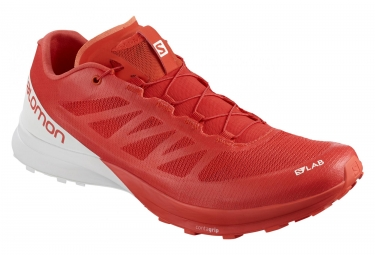 Paire de chaussures salomon s lab sense 7 racing rouge blanc 46