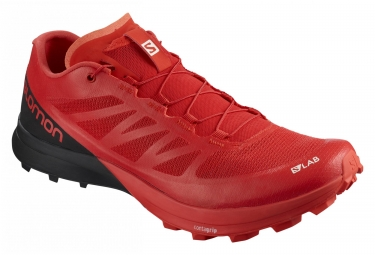 Paire de chaussures salomon s lab sense 7 sg racing rouge noir 44 2 3