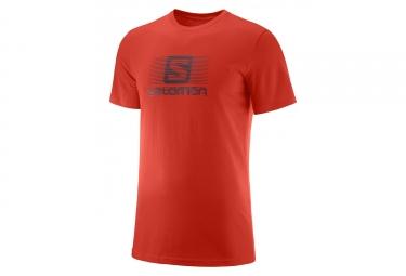 Maillot manches courtes salomon blend logo rouge l