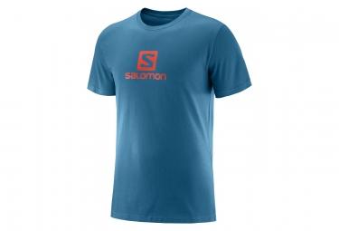 Maglia manica corta Salomon in cotone con logo blu