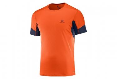Maillot manches courtes salomon agile orange noir l