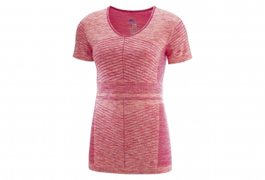 Maillot Manches Courtes Femme Salomon Elevate Move´On Rose