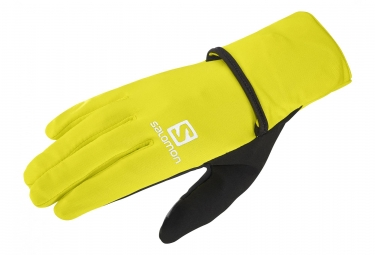 Salomon Fast Wing Winter Unisex Gloves Yellow Black