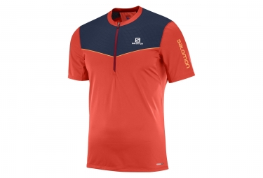 Maillot manches courtes salomon fast wing rouge l
