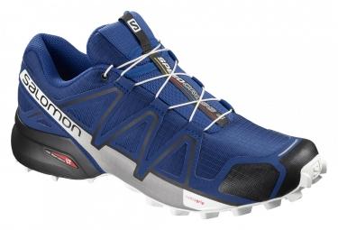 Paire de chaussures salomon speedcross 4 bleu noir blanc 46