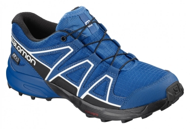 Paire de chaussures enfant salomon speedcross cswp bleu noir 32