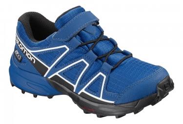 Paire de chaussures enfant salomon speedcross cswp bleu noir blanc 28
