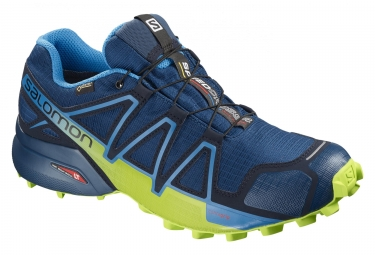 Paire de chaussures salomon speedcross 4 gtx bleu jaune 42