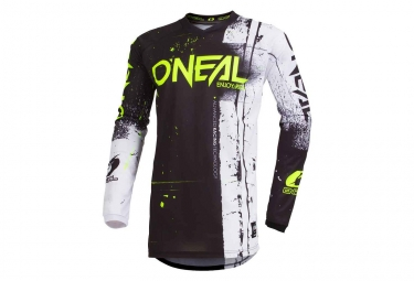Maillot manches longues o neal element shred noir s