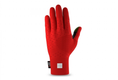 Paire de Gants Compressport 3D Thermo Seamless Running Rouge