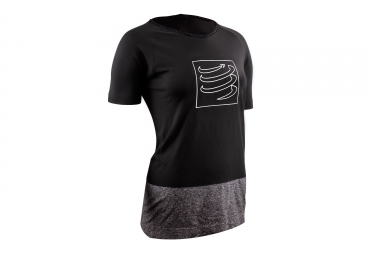 Compressport Training Woman T-Shirt Black Grey