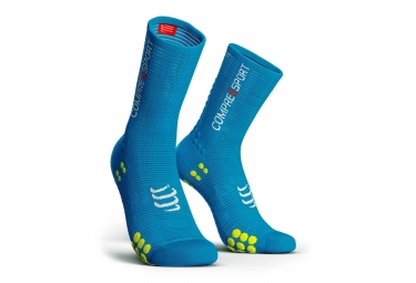 Paire de Chaussettes Compressport Pro Racing V3.0 Bike Bleu