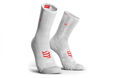 Paire de Chaussettes Compressport Pro Racing V3.0 Bike Blanc