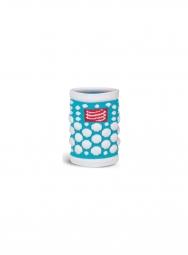 Paire de bandeaux poignets compressport 3d dots bleu