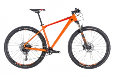 Vtt semi rigide cube reaction race sram gx eagle 12v orange 19 pouces 180 190 cm