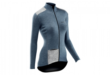Northwave Allure Women LS Jersey Wool Avio