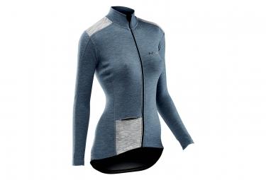 Maillot Manches Longues Femmes Northwave Allure Wool Avio / Bleu