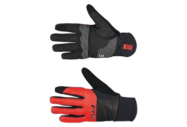 Gants northwave power 3 gel pad noir rouge m