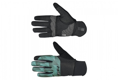 Gants northwave power 3 gel pad noir foret verte l