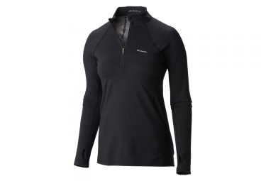 Columbia Midweight Stretch Long Sleeve Half Zip Black