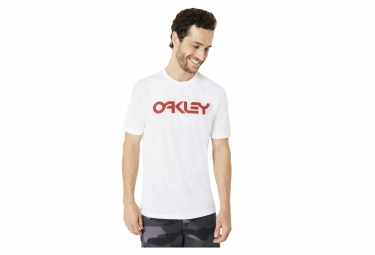 Tee shirt manches courtes oakley mark ii blanc s