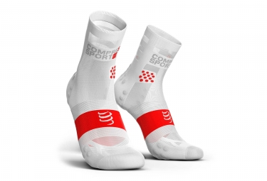 Image of Chaussettes compressport pro racing v3 0 run ultralight haute blanc 45 47