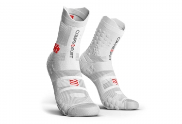 Chaussettes Compressport Pro Racing V3.0 Trail Haute Blanc