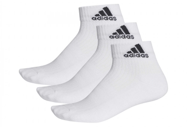 Lot de 3 paires de chaussettes basses adidas running 3 stripes performance blanc 35